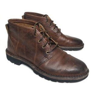 Frye Leather Chunky Lugged Lace Up Boots Mens 8.5
